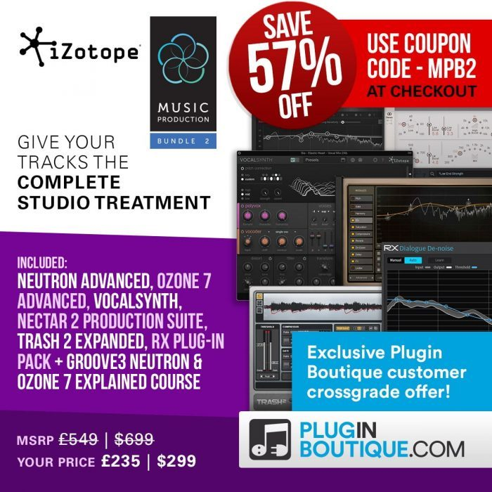iZotope Music Production Bundle 2 crossgrade