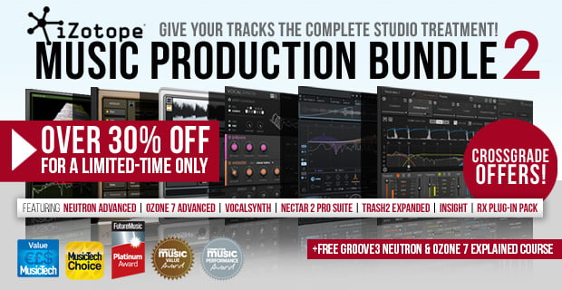 iZotope Music Production Bundle 2 sale