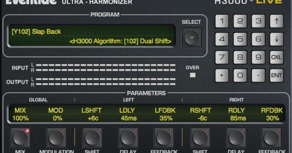 Eventide H3000 LIVE plugin