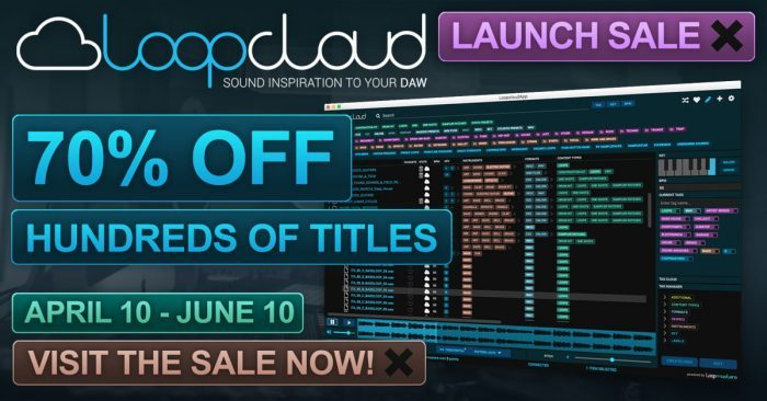 Loopmasters Loopcloud launch sale