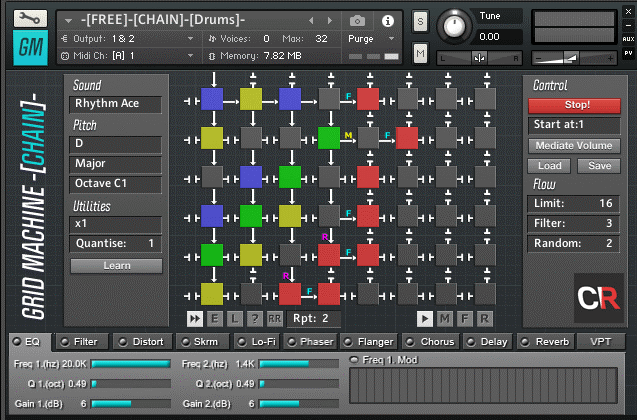 Robot Channel Free Chain Drums