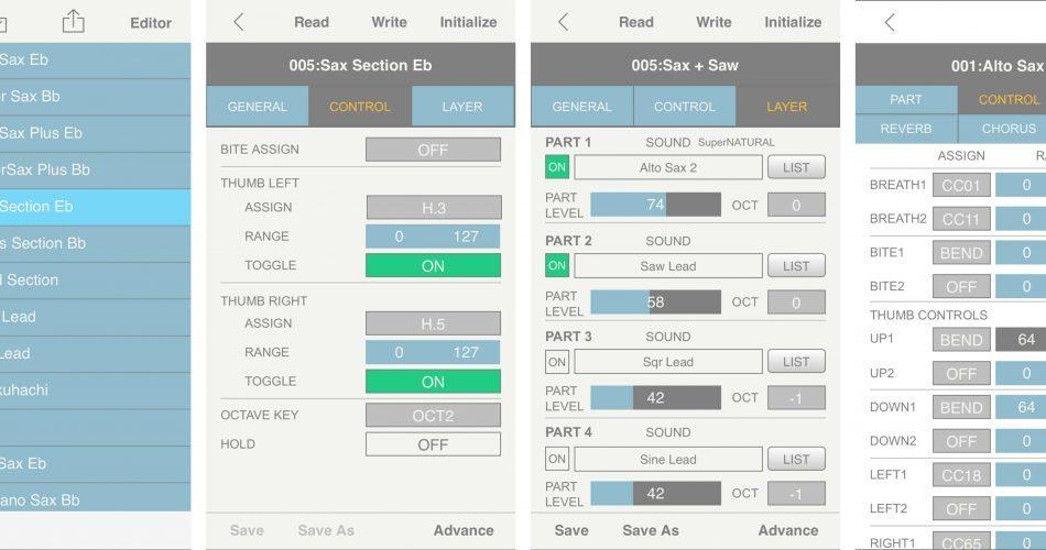 Roland Aerophone Editor app