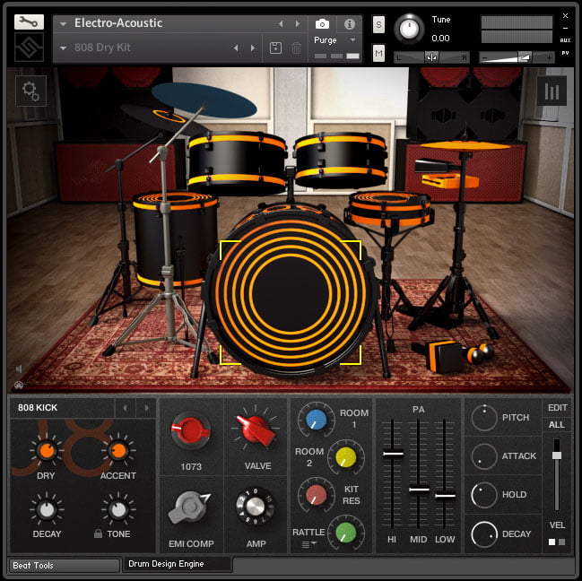 soniccouture electro acoustic studio drum machines for kontakt player. Black Bedroom Furniture Sets. Home Design Ideas