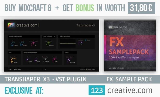 123creative Mixcraft 8 bonus