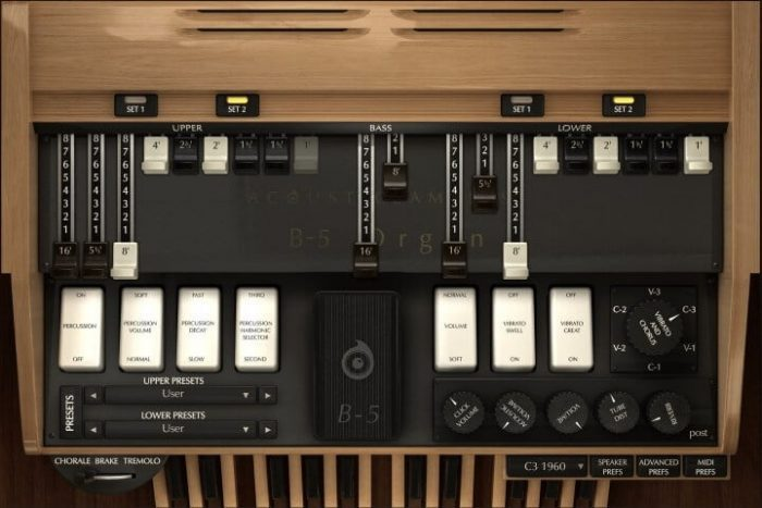 Acousticsamples B 5 Organ V2 screen