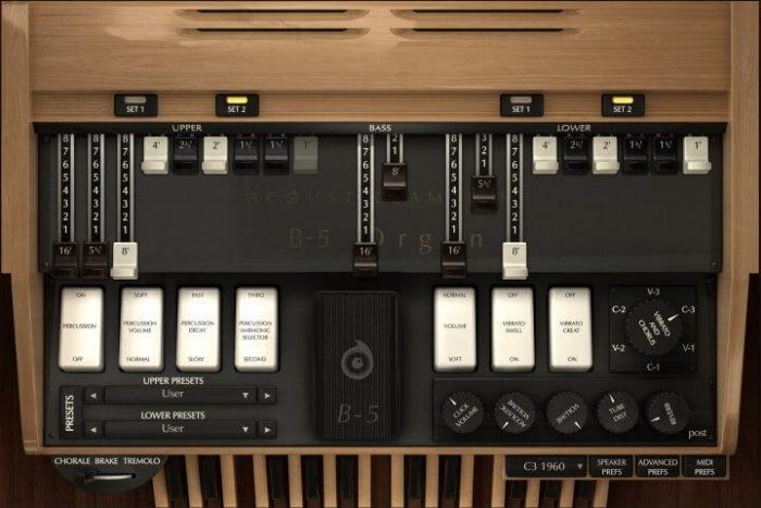 Acousticsamples B 5 Organ V2 screen