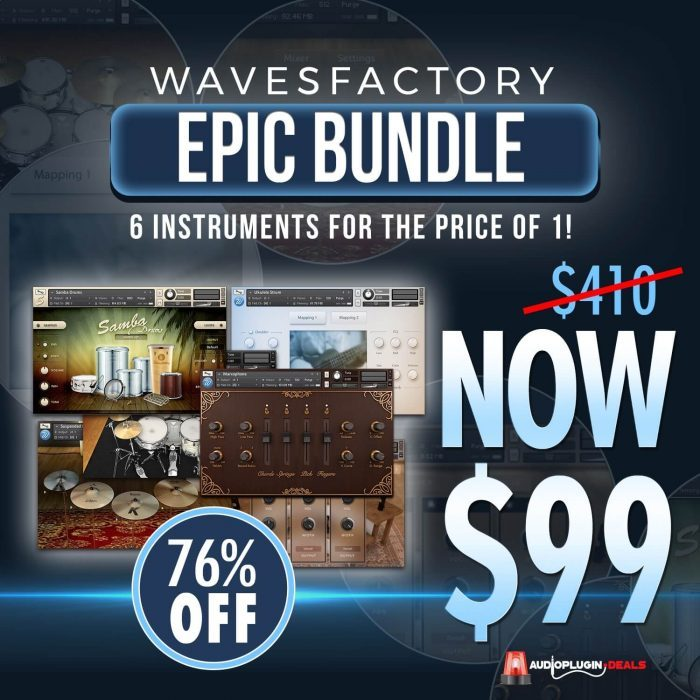 Audio Plugin Deals Wavesfactory Bundle
