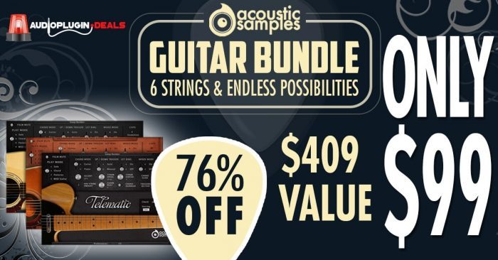 Audio Plugins Deals Acousticsamples 3 in 1 Guitar Bundle