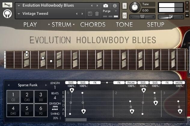 Orange Tree Samples Evolution Hollowbody Blues 2