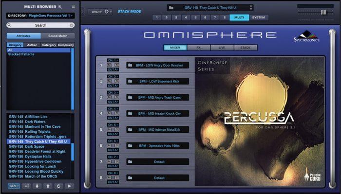 PlugInGuru Percussa Vol 1 for Omnisphere