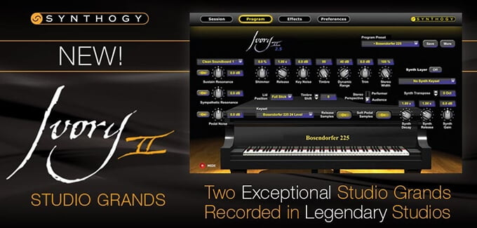 Synthogy Ivory II Studio Grands