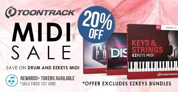 Toontrack MIDI Pack sale