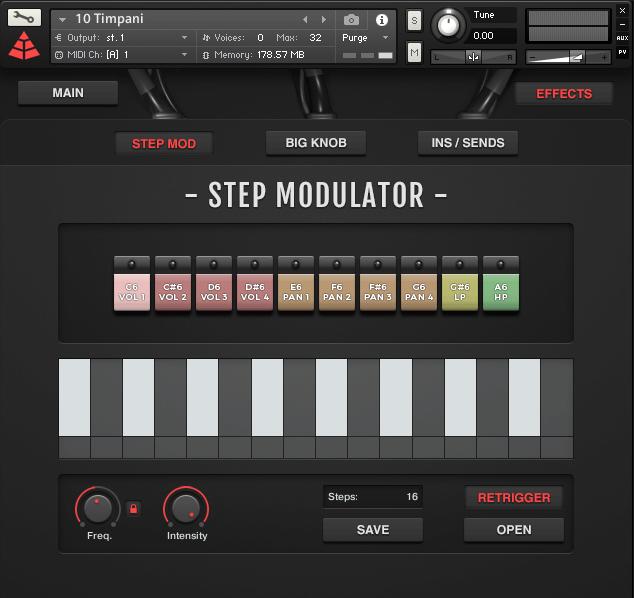 Audio Imperia Sinfonia Drums Step Modulator