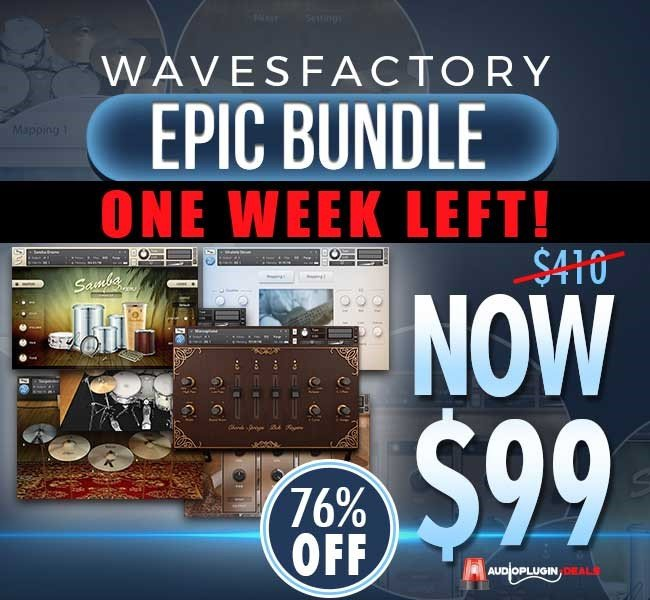 Audio Plugin Deals Wavesfactory week