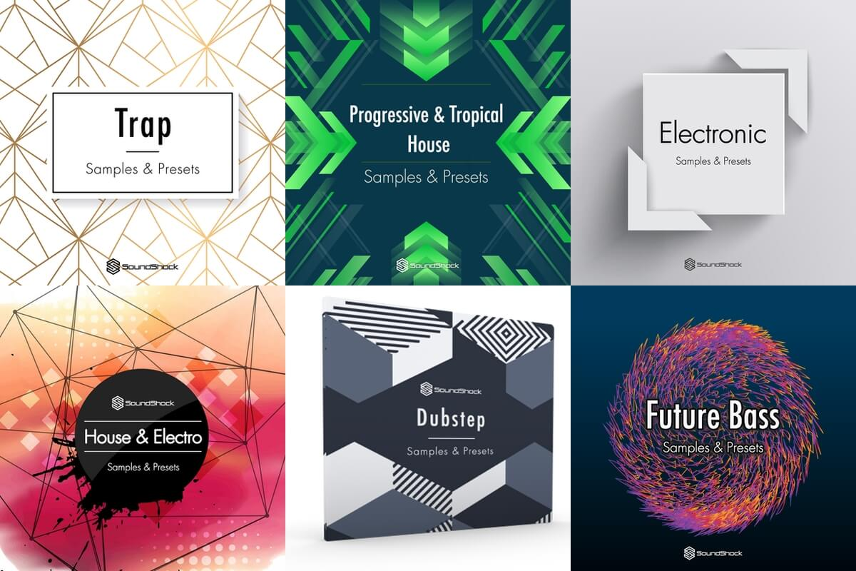 get 6 free sample packs for electronic music at soundshock