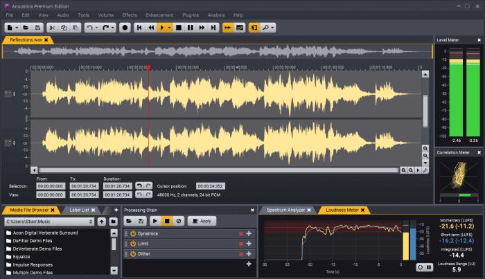 Acon Digital Acoustica 7 Clip editor