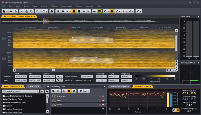 Acon Digital Acoustica 7 Spectral editing