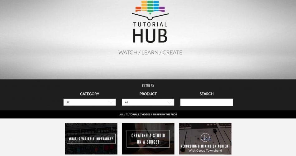 Audient Tutorial Hub