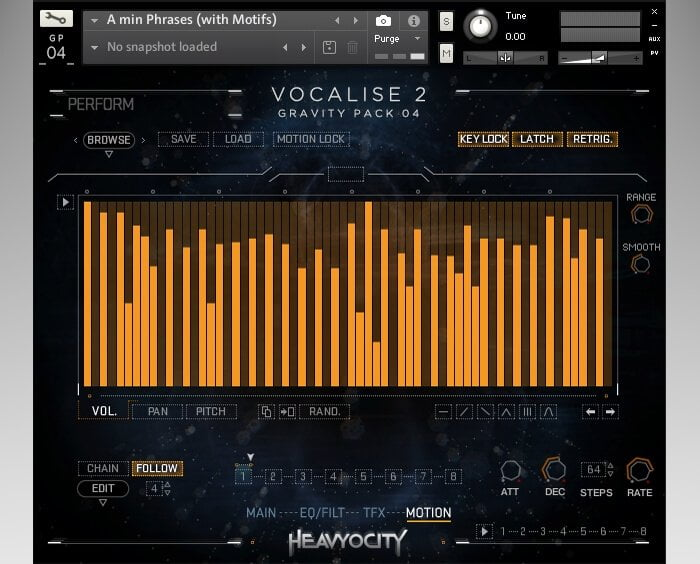 Heavyocity Vocalise 2 screen motion