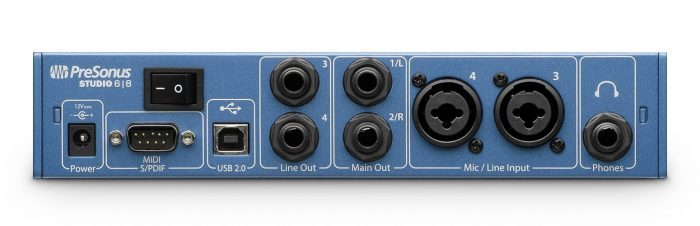 PreSonus Studio 68 back