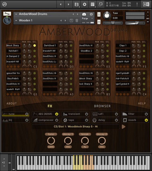 YummyBeats Amberwood Drums screen