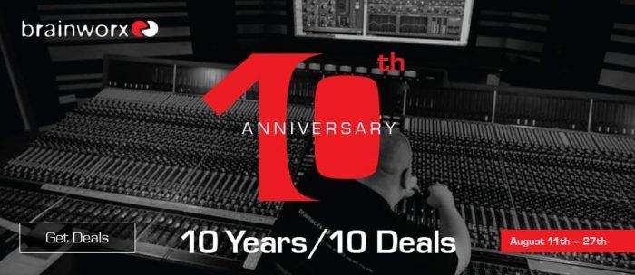 Brainworx 10 year anniversary
