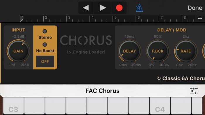 FAC Chorus GarageBand