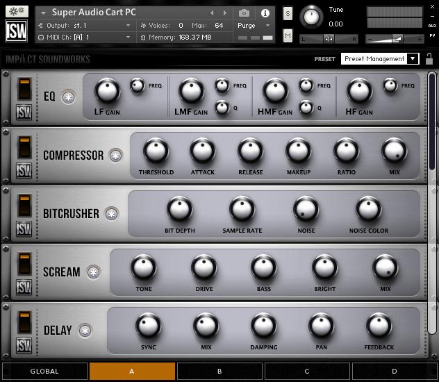 Impact Soundworks Super Audio Cart PC GUI fx