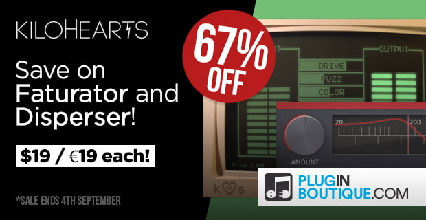 Kilohearts Faturator Disperser 67 off Plugin Boutique