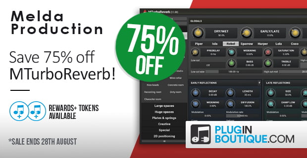 MeldaProduction MTurboReverb Sale