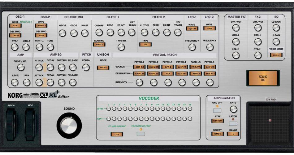 Momo MicroKorg XL and XL+ MIDI Editor