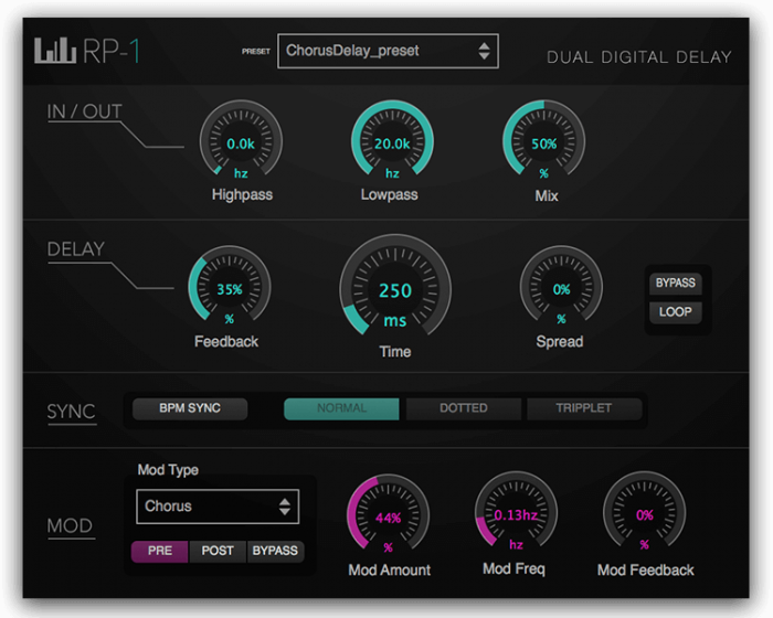 Numerial Audio RP-1 dual digital delay