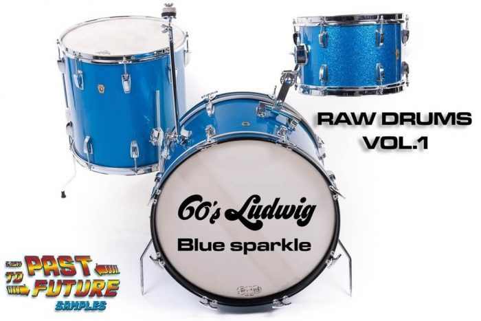 Past To The Future Samples Raw Drums 60's Ludwig Blue Sparkle