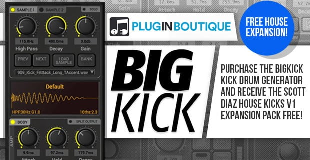 Plugin Boutique BigKick Free House Expansion