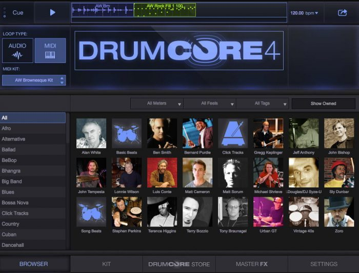 Sonoma Wire Works DrumCore 4 Browser Purdie