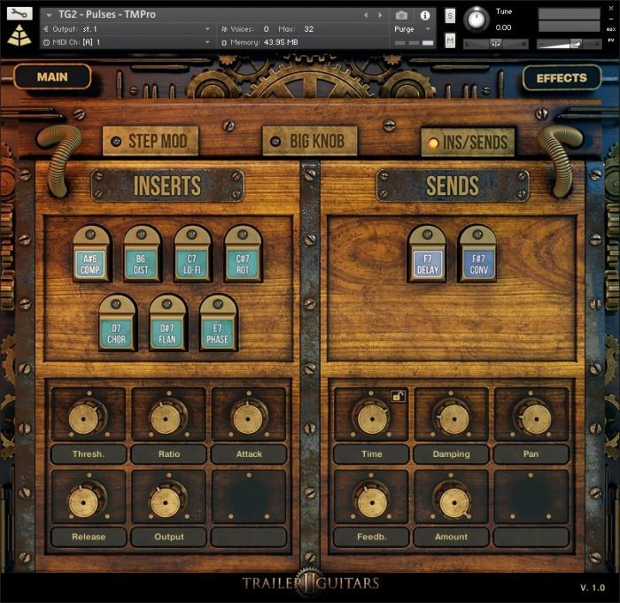 Audio Imperia Trailer Guitars 2 GUI inserts sends