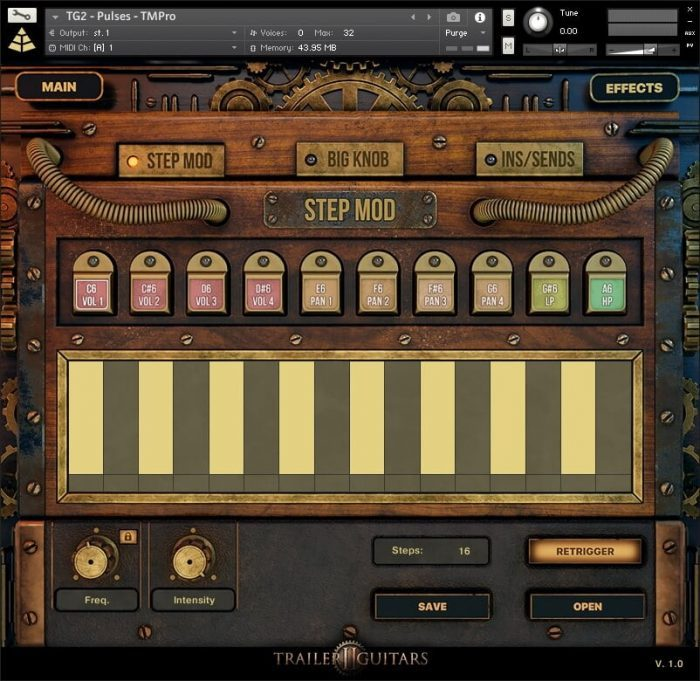 Audio Imperia Trailer Guitars 2 GUI step mod