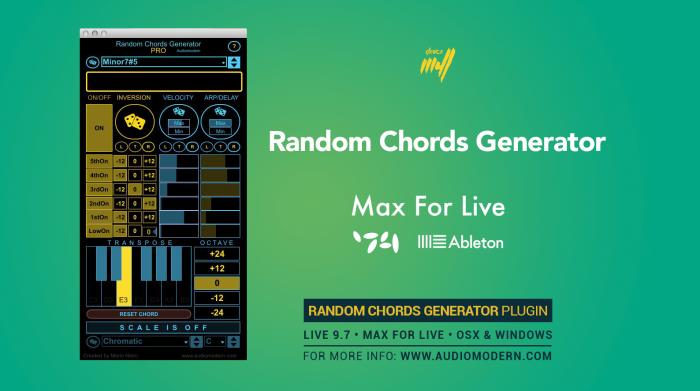 Audiomodern Random Chords Generator PRO