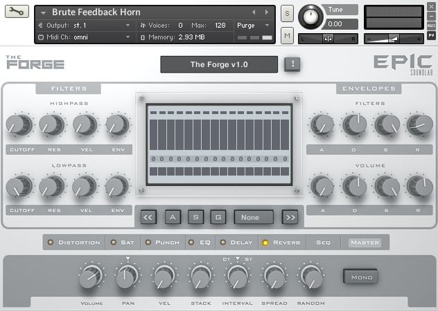 Epic SoundLab The Forge GUI