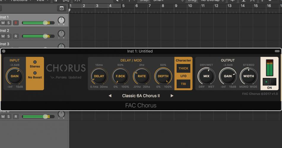 FAC Chorus Logic Pro X