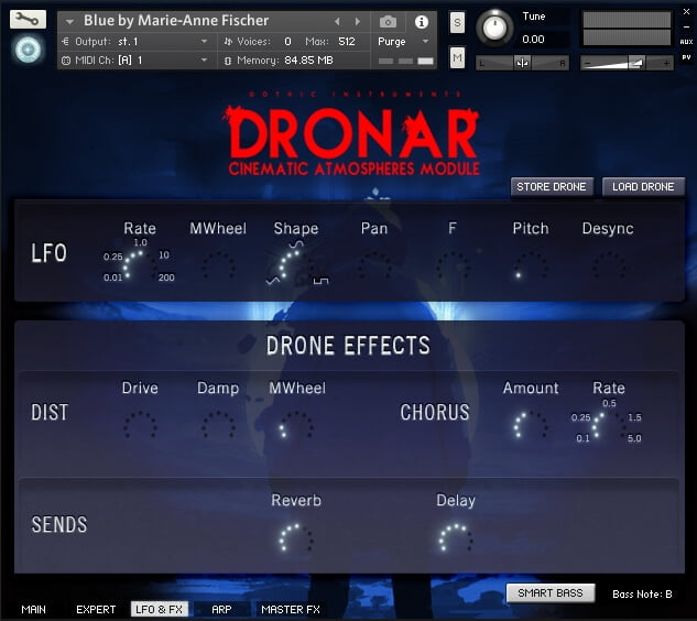 Gothic Instruments Dronar Cinematic Atmospheres LFO FX