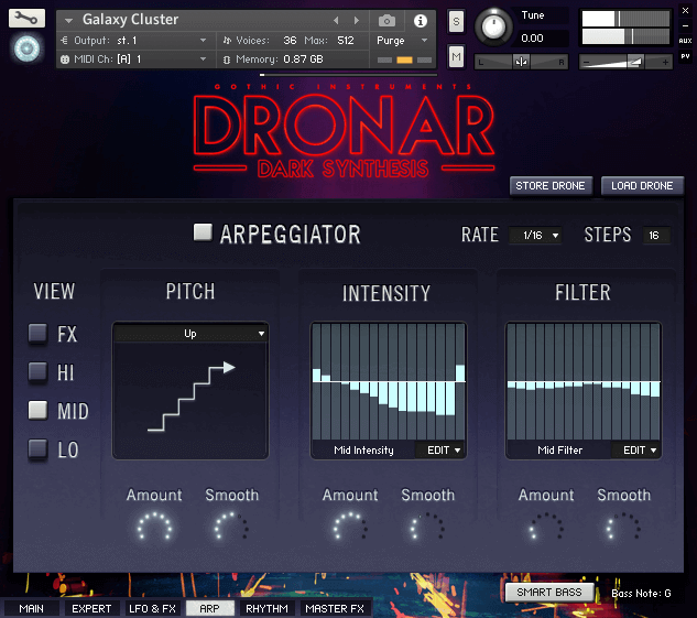 Gothic Instruments Dronar Dark Synthesis arp