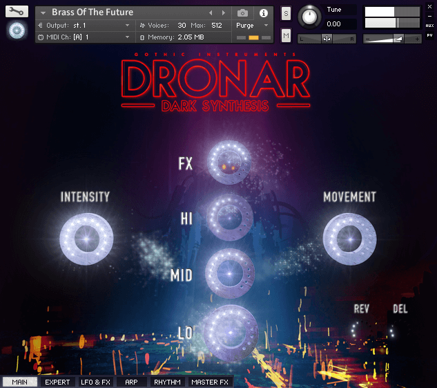 Gothic Instruments Dronar Dark Synthesis main
