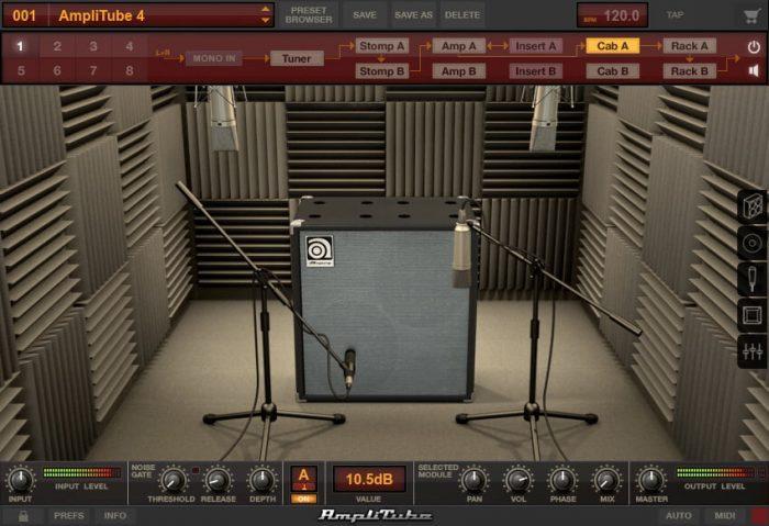 IK Multimedia Ampeg SVX 2 booth SVT 212 AV