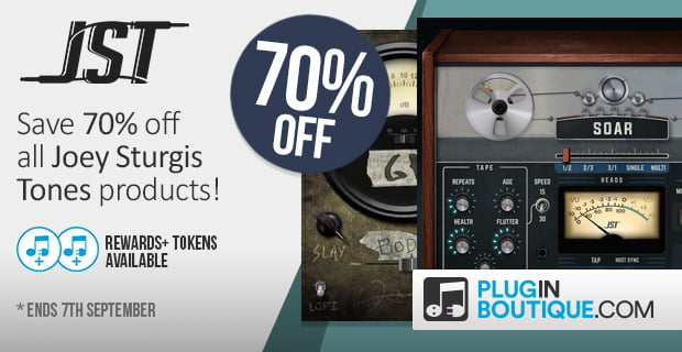 Joey Sturgis Tones plugins 70 off