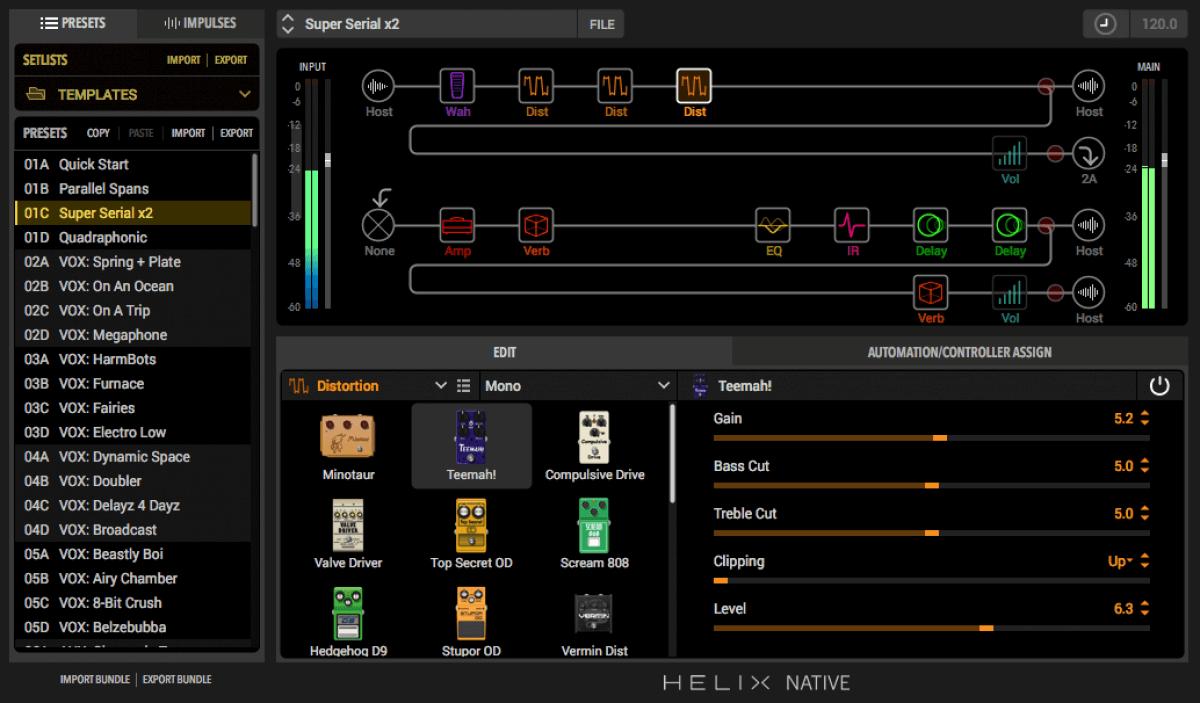 Line 6 Updates Helix Native Amp Amp Effects Modeling Plugin