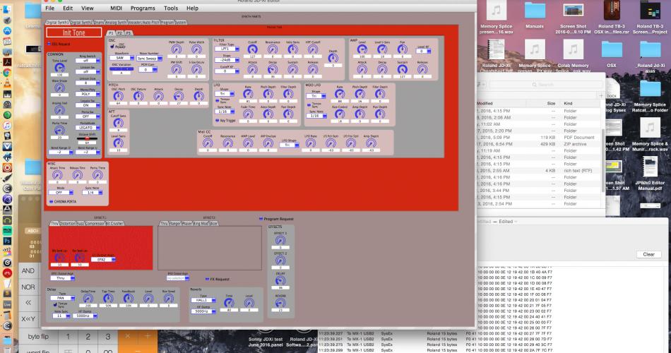 Memory Splice Roland JD Xi Editor Software
