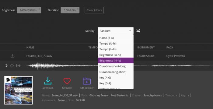 Noiiz Feature Filters