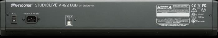 PreSonus StudioLive AR22 USB back