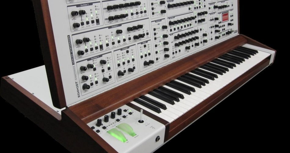 Schmidt Eightvoice Analog Synthesizer white